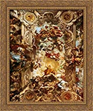 Allegory of Divine Providence and Barberini Power 20x24 Gold Ornate Wood Framed Canvas Art by Pietro da Cortona