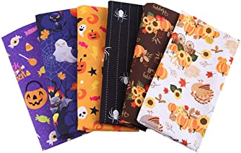 Fat Quarter Wicked Halloween Cats Orange 100/% Cotton Quilting Fabric C3385