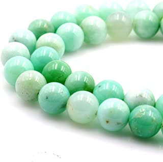 BRCbeads Natural Green Chrysoprase Agate Gemstone Round Loose Beads 5mm Approxi 15.5 inch 78pcs 1 Strand per Bag for Jewelry Making
