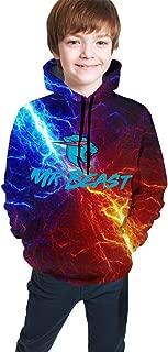 Mr Beeast Lightning Thunder Kids Hooded Youth Sweatshirt Teen Hoodies