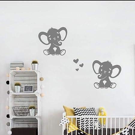 vinyl decals 0.75/'/' 3/'/' sizes available Elephant Footprint Stickers elephant baby shower invitation seal nursery wallpaper