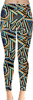 Womens Tights Triangle Pattern Geometric Abstract Texture Houndstooth Stretch Leggings, XS-5XL