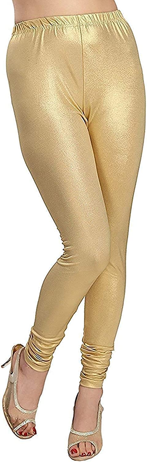 DREAM & DZIRE Women's Viscose Light Gold Solid Leggings for All Plus Size and Small Size