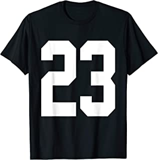 Number 23 Jersey Style White Print T-Shirt