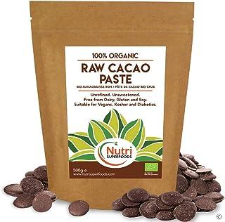 NUEVO LANZAMIENTO Pasta de cacao orgánica cruda / Masa en obleas / botones - Sin endulzar, sin refinar y 100% chocolate puro - 500g