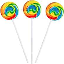 Rainbow Swirl Pops – 12 Suckers