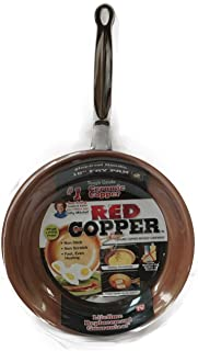 NEW 10 Inch Ceramic Copper Infused Skillet/Frying Pan NON-STICK, NON-SCRATCH
