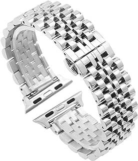 バンド 時計 つや消し シルバーウォッチバンドベルト for Apple Watch アップルウォッチ ウォッチバンド 42mm 44mmに対応 ステンレスメタルバンド 交換 ストラップ iWatch Series 5/4/3/2/1 Nike + Sport Edition Hermesに対応