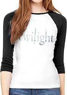 The Twilight Saga Women's Mid-Sleeve T-Shirt with A Unique and Beautiful Round Neck T-Shirt.Black