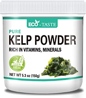 Natural Kelp Powder, 5.3oz(150g), Sun Dried and Raw, Rich in Minerals and Fiber, 100% Pure, Gluten-free