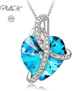 PLATO H ❤Gift Box Packaging❤ Purple/Blue Heart Crystal...