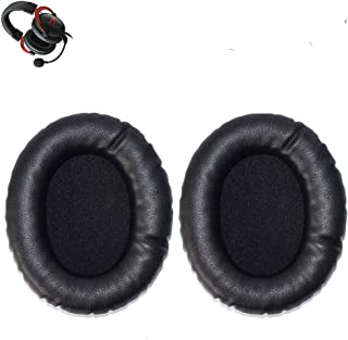 Cloud II Earpads Replacement Ear Pads Cushion Muff Parts Cover Compatible with Kingston HyperX Cloud II KHX-HSCP-GM Headphones.(Leather Black)