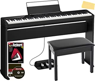 Casio Privia PX-S3000 88-Key Digital Piano - Black Bundle with CS-68 Stand, SP-34 Three Pedal System, Furniture-Style Benc...