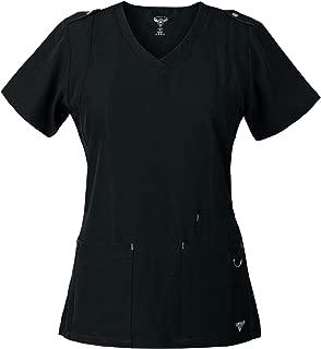 Superflex Activewear Scrubs Top w/Shoulder Tab Detail and 4-Way Stretch