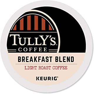 Tully's Coffee Breakfast Blend, K-Cup Portion Pack for Keurig K-Cup Brewers 24-Count