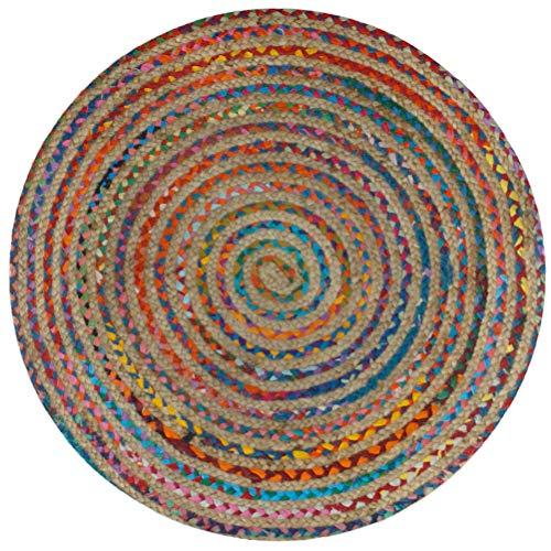 SIGNES DECORA Teppich Mandala Mehrfarbig 120x 120