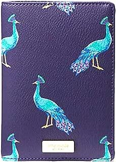 Kate Spade Shore Street Peacock Party Passport Holder Case Cover, Blue Multi