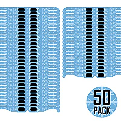 Christmas 3D Glasses - Holiday Specs Transform Lights into Magical Snowflake Image (50 Pack)