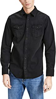 Jack & Jones Men's L/Sleeve Collared Denim Shirt