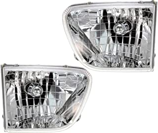 Epic Lighting OE Fitment Replacement Headlights Assemblies for 1998-2001 Mercury Mountaineer [FO2502189 FO2503189 F87Z13008BD F87Z13008BF F87Z13008AD F87Z13008AF] Left & Right Sides Pair