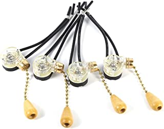Vobor 4pcs Cuerda del tirón Interruptor de luz Interruptor de Cuerda, Universal Tire reemplazo Tirador de Cadena for el hogar Ventilador de Techo lámpara de Pared Ligera 250V 125V