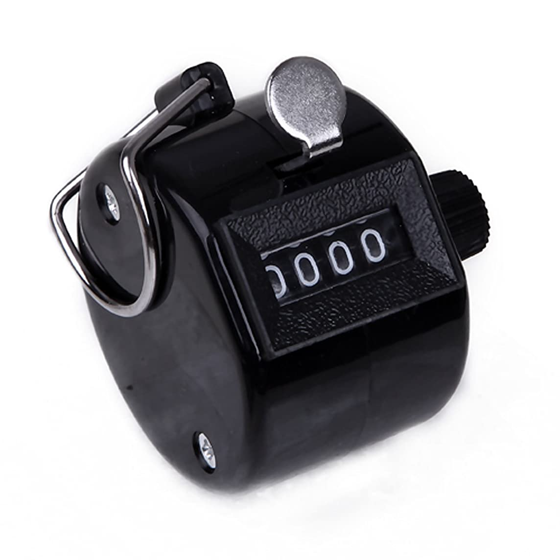 HDE Handheld Tally Counter 4 Digit Mechanical Manual Clicker with Silver Ring Holder