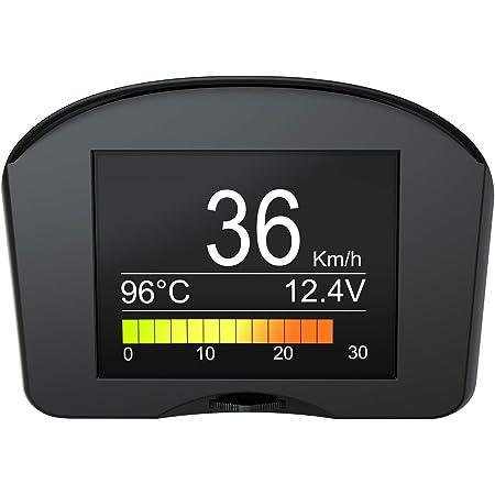 Autool X50 Plus Car OBD2 HUD Head Up Display Speedometer Overspeed Alarm 12V
