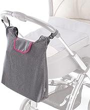 DIAGO 30047.75276 Deluxe Kinderwagentasche grau/magenta
