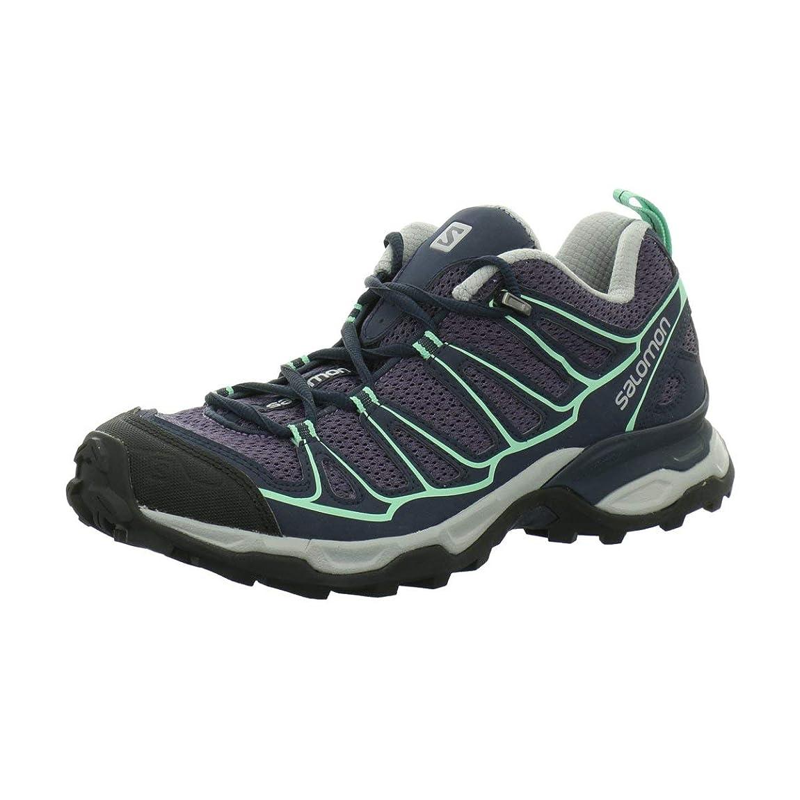 真鍮とても内向き[サロモン] レディース 女性用 シューズ 靴 スニーカー 運動靴 X Ultra Prime - Artist Grey-X/Deep Blue/Lucite Green [並行輸入品]