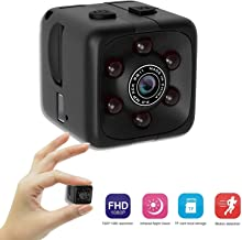 Mini Cop Cam- Spy Camera Wireless Hidden - Micro Hidden Camera - Nanny Cam, Cop Camera, Body Cam - 1 Cubic Inch 1080p Hidden Security Camera with Motion Detection and Night Vision