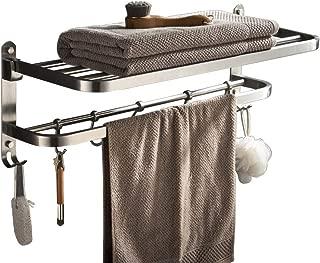 Best brushed nickel towel rack with shelf Reviews