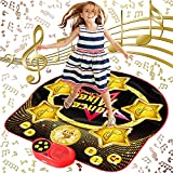 SUNLIN Dance Mat for Kids - Electronic Light Up Dance Game Pad with Built-in & External AUX Music - Indoor Party Dancing Mixer Play Mat - Toys Gifts for Girls & Boys (35.8'×36.4')