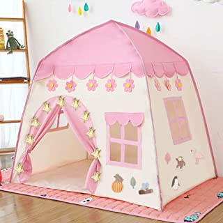 Princess Castle Play Tent Kids Teepee Tent Large Children Playhouse Oxford Fabric Children Playhouse for Indoor Outdoor wi...