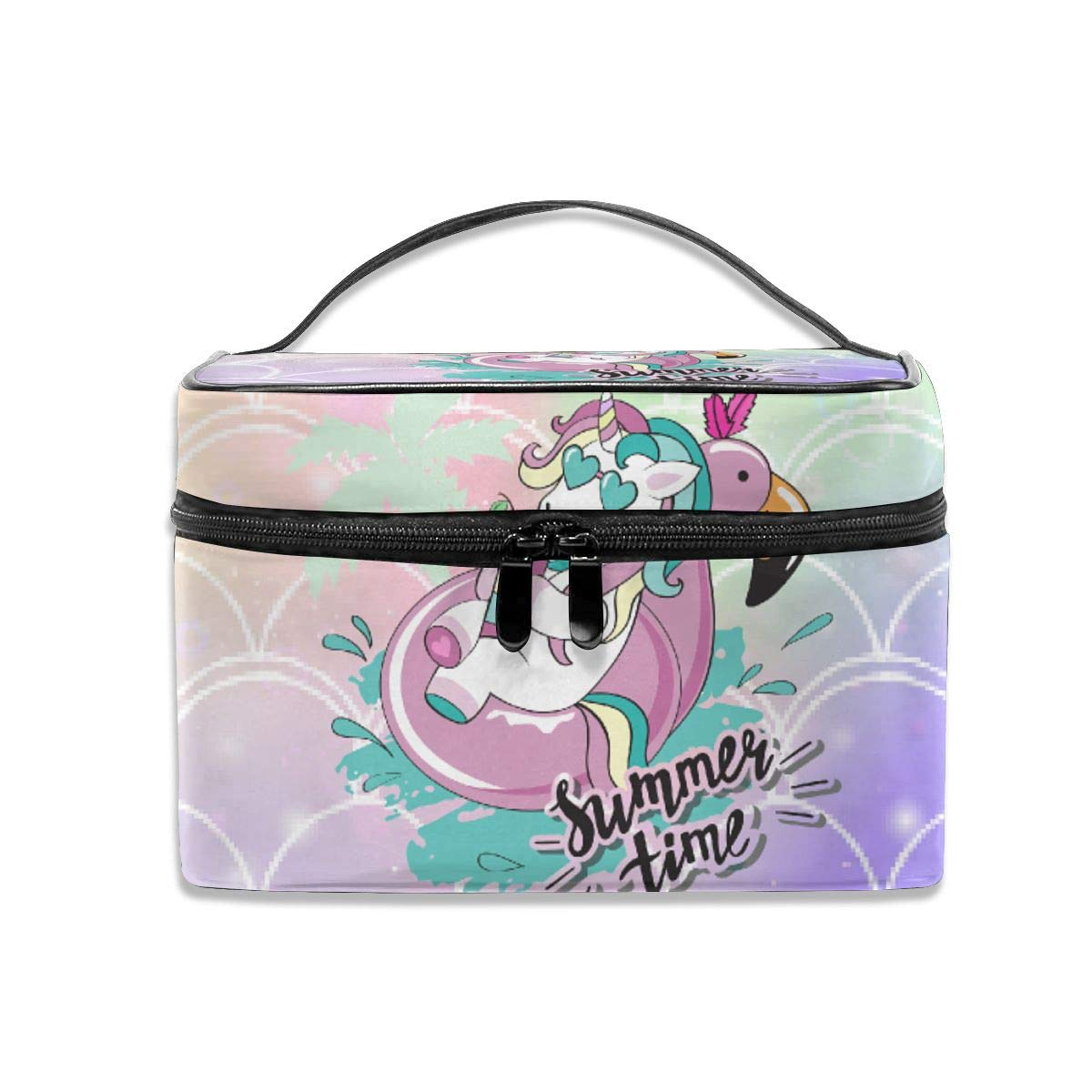 Oakland Mall Lucaeat Coloured Scales Max 86% OFF Makeup Train Case Carrying Zip Portable