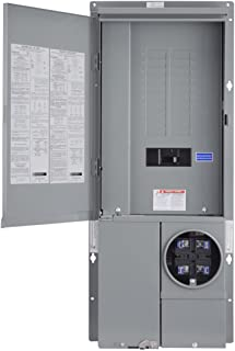 Square D by Schneider Electric SC2040M125PF Homeline 125-Amp 20-Space 40-Circuit Solar-Ready Combination Meter Socket and Main Breaker Load Center for Plug-on Neutral breakers