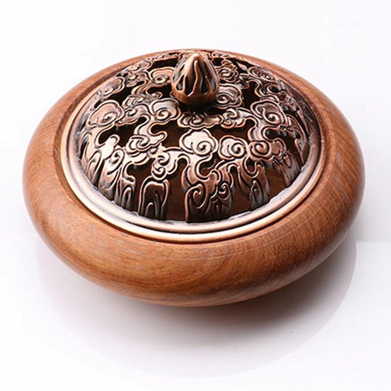 吹きさらし一部アルミニウム(ラシューバー) Lasuiveur 香炉 香立て 渦巻き線香 線香立て お香立て 木製