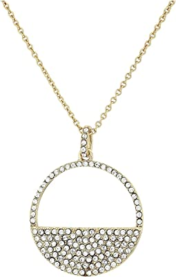 Cut Out Disk Pave Necklace