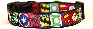 Superheros Batman Superman Spiderman Green Arrow Captain America Green Lantern Collar Perro Hecho a Mano Talla M sin Correa Dog Collar Handmade