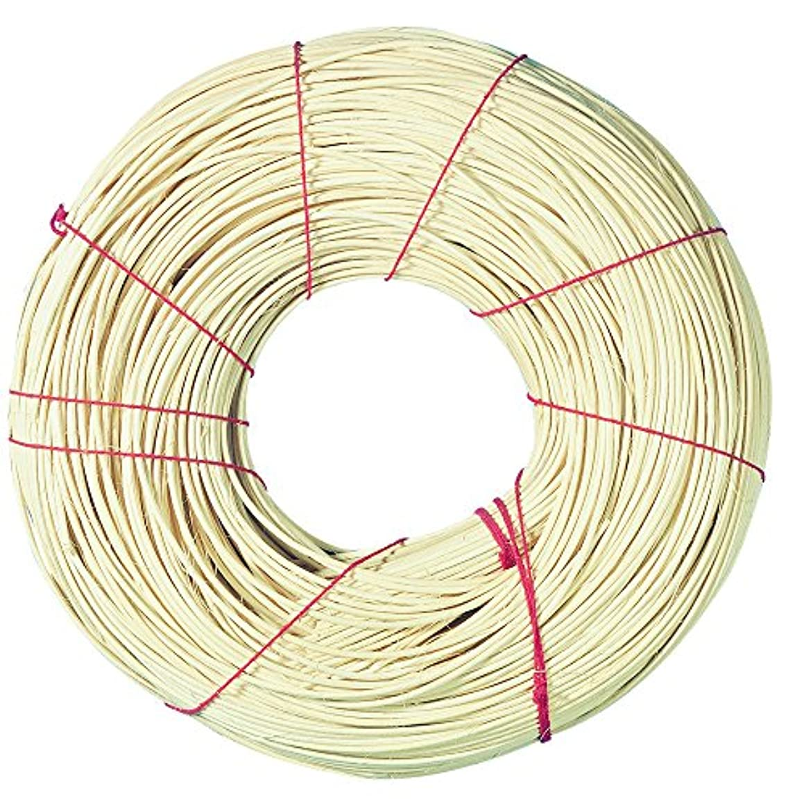 Rayher 6502800 Rattan Round Reed for Basket Making and Weaving, Coil of Reeds 1lb, Round, No 8