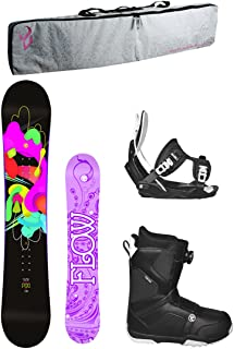 Flow 2018 Pixi Women's Complete Snowboard Package Bindings BOA Boots Padded Bag - Board Size 140