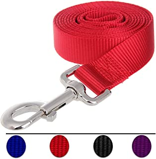 Dog Leash,Strong and Durable Traditional Style Leash with Easy to Use Collar Hook,Nylon Dog Leashs, Traction Rope, 6 Feet Long, 3/5 Inch Wide,Red