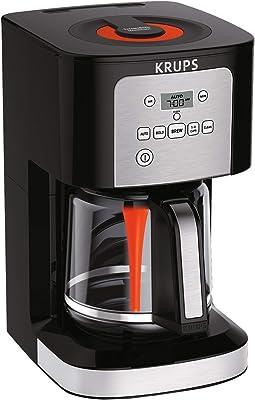 Cafetera de Goteo Krups EC321050 Programable SAVOY turbo de 12 tazas, color metal