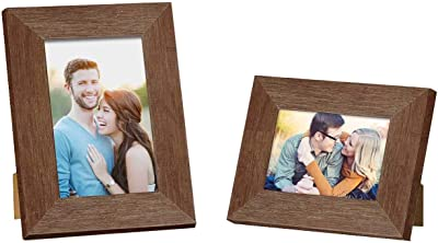 """Art Street Customize Table Photo Frame/Picture Frame for Desk (Photo Size 5""""X7"""" & 4""""X6"""") Photo Gift/Love Gift - (Set of 2- Brown)"""
