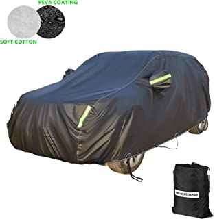 NEVERLAND SUV Cover Made of PEVA Composite Cotton, Waterproof All Weather for Automobiles, Outdoor Full Cover Rain Sun Dust Protection, Universal Fit for SUV (Length up to 179