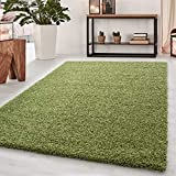 Abaseen Small Large Shaggy Modern Rug in 12 Different Colour and 4 Different Sizes (Green, 120x170 cm (4'x5'6''))