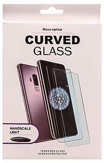 واقي شاشة زجاجي شفاف بحواف كاملة منحنية لهاتف سامسونج جالكسي اس 9 بلس من نانو اوبتكس