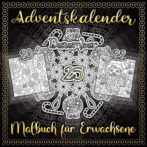 Adventskalender Malbuch für Erwachsene: Vol. 2 | 25 Nummerierte Weihnachten Malvorlagen | Weihnachtskalender Mandalas für Erwachsene und ältere Kinder | Winter Mandala zum Ausmalen
