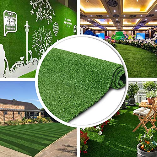 · Petgrow · 5FTX8FT Synthetic Artificial Grass Turf for Wedding Christmas Decorations Fence Backdrop Shop, Drainage Holes Indoor Outdoor Faux Grass Rug Carpet for Garden Balcony