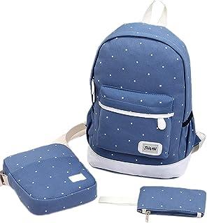 Cocity Backpacks School Bags for Teen Girls Teen Backpack Set School Bags, Bookbags 3 in 1 Pack