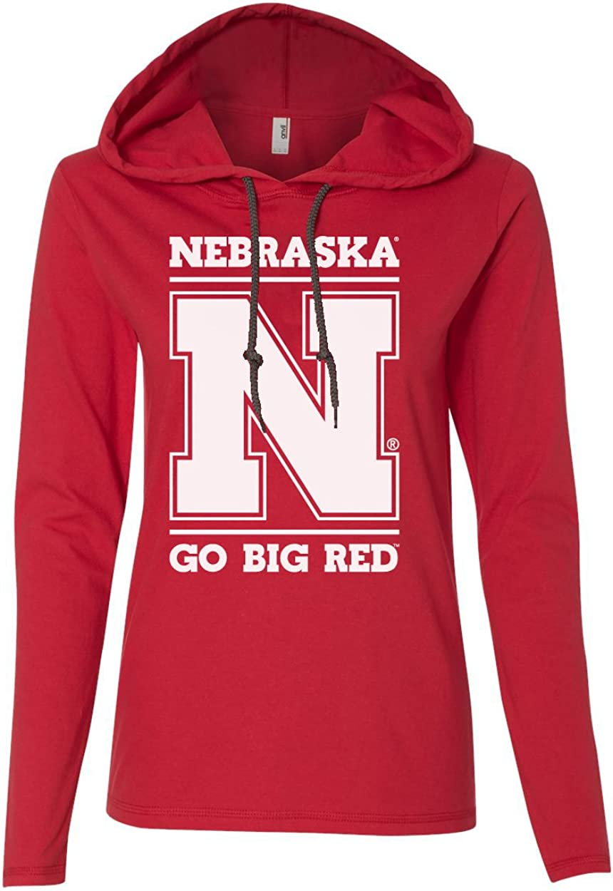 CornBorn Max 68% OFF 70% OFF Outlet Nebraska Huskers Apparel - Hooded T-Shirts Women's